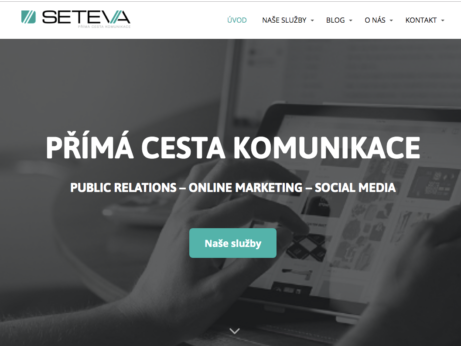 Webové stránky Seteva